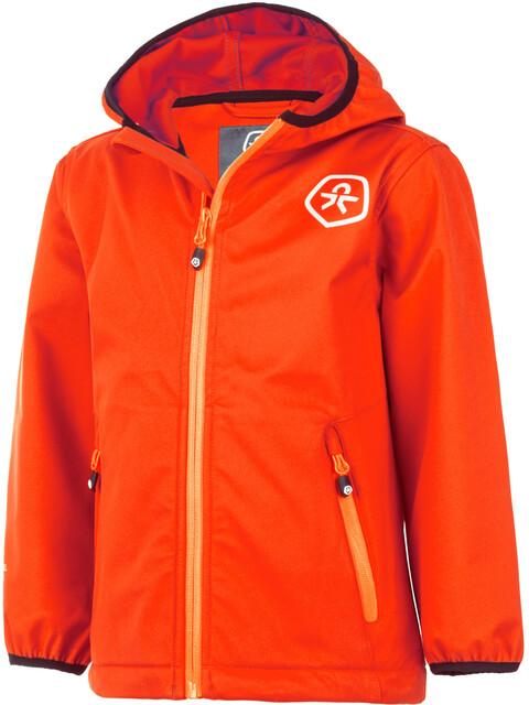 Color Kids Barkin Softshell Jacket Kids fiery coral